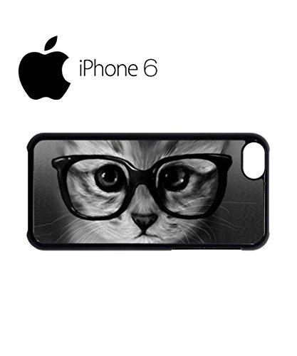 Moustache Cat Ginger Kitten Geek Glasses Cool Funny Hipster Swag Mobile Phone Case Back Cover Hülle Weiß Schwarz for iPhone 5c White Weiß