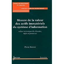 Mesure de la valeur des actifs immatériels du système d'information : Valeur intrinsèque des données, règles et processus