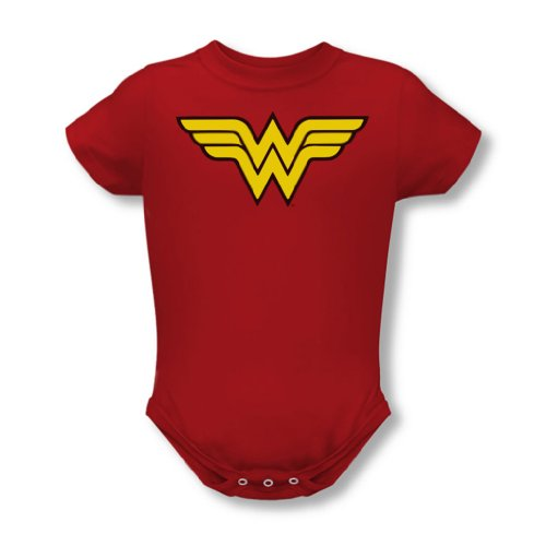 Dc Comics - Wonder Woman Logo Baby T-Shirt in Rot, 18-24 Months, Red