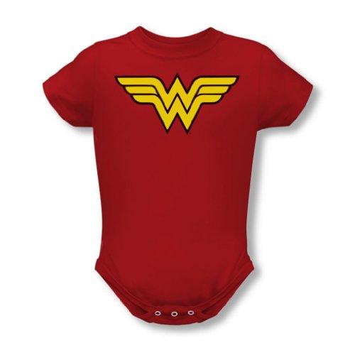 Dc Comics - Wonder Woman Logo Baby T-Shirt in Rot, 18-24 Months, Red (Wonder Woman Baby)