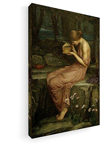 John William Waterhouse - Psyche Opening the Golden Box - 30x45 cm - Leinwandbild auf Keilrahmen - Wand-Bild - Kunst, Gemälde, Foto, Bild auf Leinwand - Alte Meister / Museum