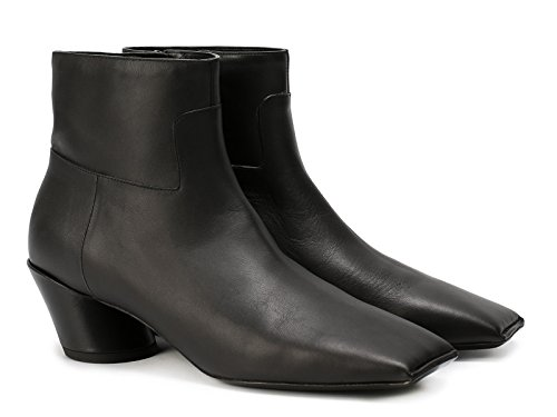 Bottines pointe carré Balenciaga en veritable cuir noir - Code modèle: 444729 WAYI0 1000 Noir