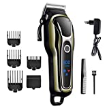 Hair Clipper Cordless Hair Trimmer Rasoio di capelli ricaricabile in ceramica con lama in titanio per uomini e bambini con 4 pettine