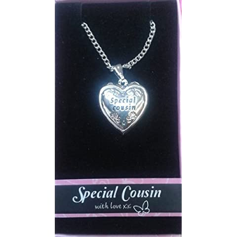 Special Cousin Love Locket Gift Boxed Pendant , Birthday, Christmas, Any Occasion Gift by Gifts For Her