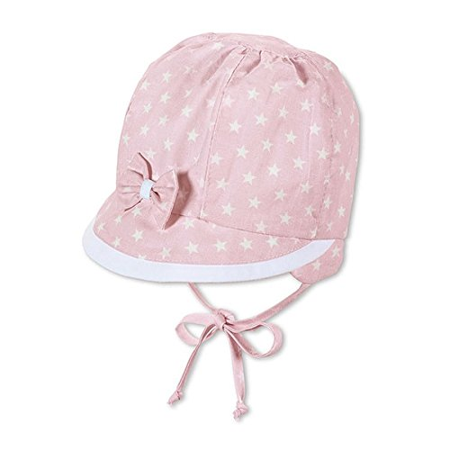 Sterntaler - Baby Mädchen Sommermütze zum Binden Sternenmotiv, rosa - 35rosa