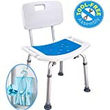 Medokare Shower Chair with Back - Padded Shower Seat for Seniors with Handles