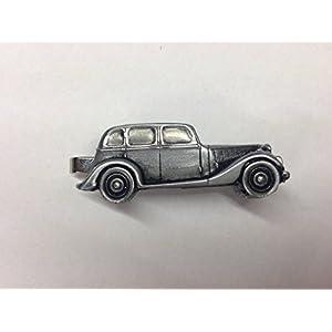 Armstrong-Siddeley 14HP ref5Zinn Effekt Auto Emblem im Krawattenklammer (Slide) handgefertigt in Sheffield kommt mit prideindetails Geschenkbox