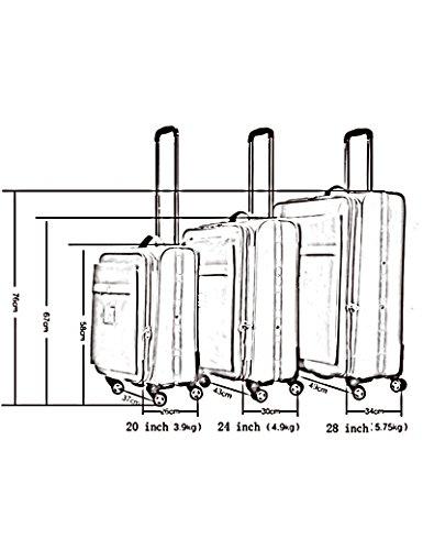 Oxford Textile Versandbeutel 360 ° Universal - Round Trolley Taschen Soft Travel Gepäck Passwort Gepäck Tasche, 20 Zoll / 24 Zoll / 28 Zoll ( Farbe : 2 , größe : 24 inch ) 4