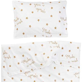 be2a9308cf4ab Make a wish - Pati Chou 100% Coton Linge de lit pour bébé (Taie d oreiller  et Housse de couette 80x120 cm)
