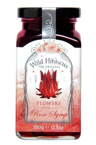 Wild Hibiscus Flower Wilde Hibiskusblüten in Rosen-Sirup, 1er Pack (1 x 350 g)