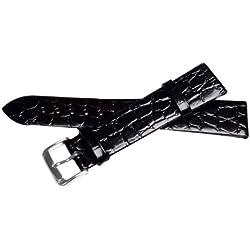 Bernex Sobek L Unisex Black Leather Buckle Pin of 2.0cm GB42306
