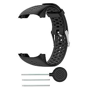 FOONEE - Silicone Strap for Polar Watch M400 M430, Replacement Bracelet Watch Strap for Polar M400 M430 GPS Running Smart Sports Watch, Black