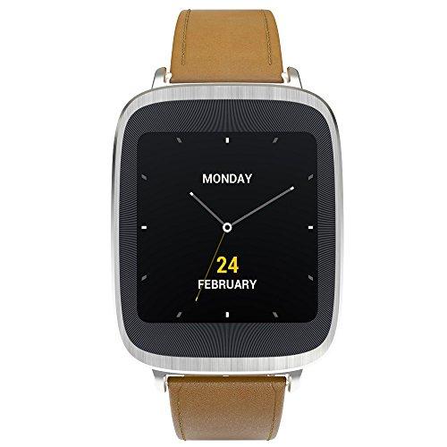 "Asus ZenWatch - Smartwatch Android (pantalla 1.63"", 4 GB, Quad-Core 1.2 GHz, 512 MB RAM), plateado (importado)"