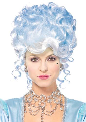 Leg Avenue A2779 - Pastell gepuderte Perücke, Damen Karneval Kostüm Fasching, Einheitsgröße, blau