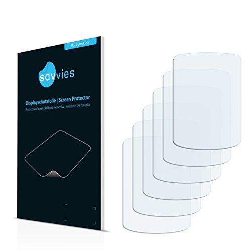 6x Savvies SU75 UltraClear Displayschutz Schutzfolie Samsung SGH-C200 (Kristallklar, Blasenfreie Montage, Passgenauer Zuschnitt)