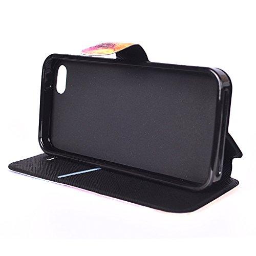 Apple iPhone 6 Plus/6S Plus 5.5 Hülle, Voguecase Kunstleder Tasche PU Schutzhülle Tasche Leder Brieftasche Hülle Case Cover (Schaukel 01) + Gratis Universal Eingabestift Stern 08