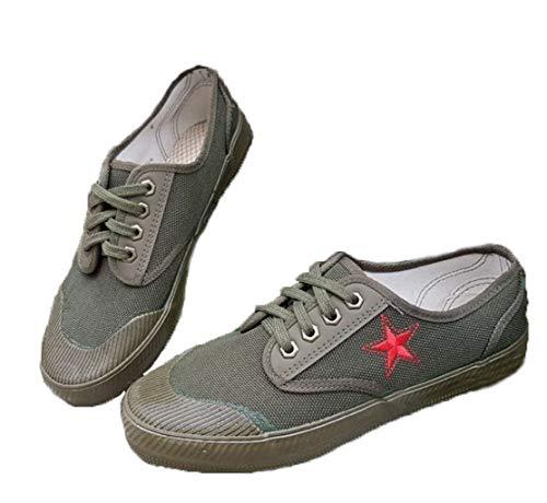 Scarpe di liberazione Scarpe di gomma verde Scarpe antiscivolo resistenti all'usura da lavoro Le scarpe da fattoria asciutte possono essere utilizzate come addestramento militare e altre attività all'