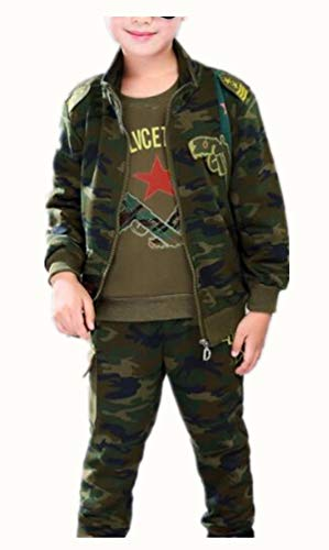 Jungen Trainingsanzug Jacke,Kinder Jungen Tarnung Jacke Sportanzug Trainingsanzug Jacke Bomerjacke Hose Sport Kapuzenpulli Hosen...