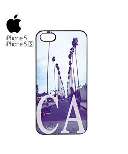 California CA Palm Springs Trees Retro Vintage Cool Funny Hipster Swag Mobile Phone Case Back Cover Hülle Weiß Schwarz for iPhone 5&5s White Weiß