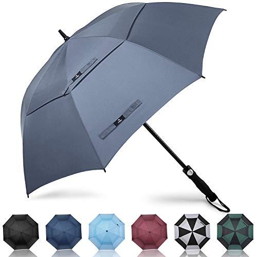 Prospo 172,7cm automatico open golf umbrella double canopy ventilato extra large oversize ombrelloni ombrello antivento impermeabile per uomo donna, n-5923 c, 68inch
