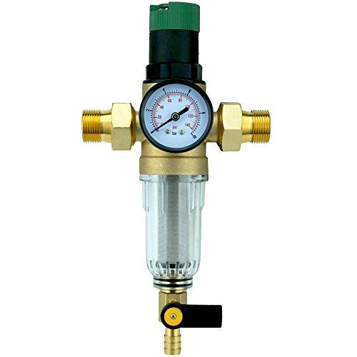 Druckminderer Rückspülfilter Edelstahl-Siebeinsatz Wasserfilter Anschluss 3/4'