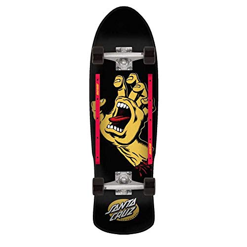 Santa Cruz Screaming Hand Cruzer 80s Skateboard, komplett 23,9 x 81 cm Sortiert