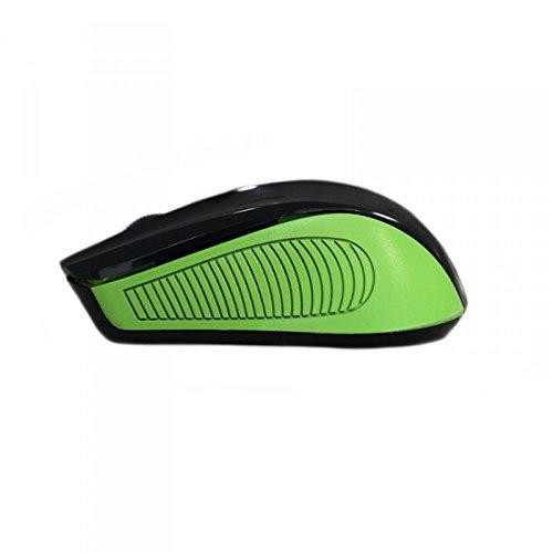 Approx AP-APPWMEGP - Ratón inalámbrico, color verde/negro