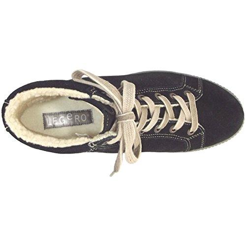Sneakers Damen 300619 Schwarz Hohe Legero Tanaro wPI0x