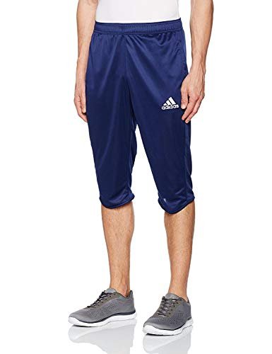 adidas Herren Shorts – Climalite für EIN angenehmes Tragen beim Sport – Sehr hoher Coref ¾ Hose für Männer – Trainingshose - Atmungsaktiv und leicht (Navy, M)