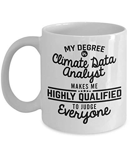SHALLY Climate Data Analyst Coffee Mug - Funny 11 Oz Novelty Tea Cup Ideas for Men Woman Husband Boyfriend Girlfriend Best Friend Coworker Colleague - Birthd - Tea Beste Maker Iced