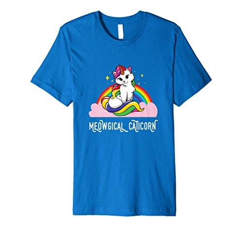 meowgical Caticorn Rainbow T-Shirt Cat Unicorn Kittycorn Tee