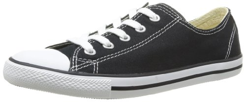 Converse All Star Dainty Ox, Baskets mode femme Noir (Noir 8)