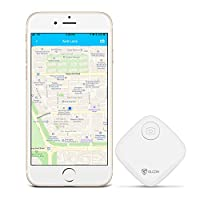 Key Finder - Key Locator Tracker Devices with App Control for iPhone, Bluetooth Slim Wallet Bag Luggage Tracker - Compatible with iOS Android(Replaceable Battery Included)
