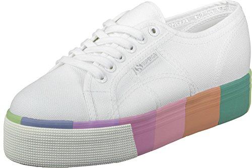 Superga 2790 Cotmultifoxingw - Scarpe da Ginnastica Basse Unisex adulti Bianco (White Multicolour)