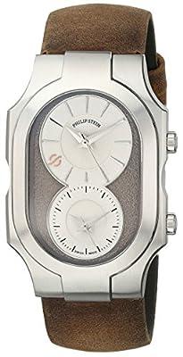 Philip Stein Men's 200-SBE-CABR Swiss Signature Analog Display Swiss Quartz Brown Watch