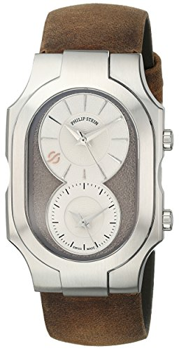 Philip Stein Men's 200-SBE-CABR Swiss Signature Analog Display Swiss Quartz Brown Watch
