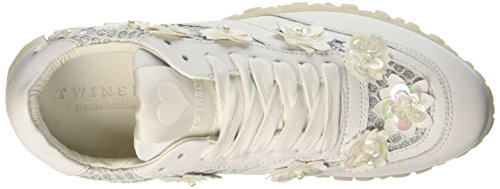 TWIN SET Cs7pac, Sneaker a Collo Basso Donna Bianco (Bianco Seta)