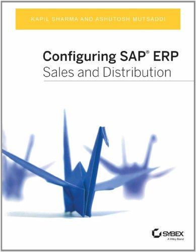 CONFIGURING SAP ERP SALES AND DISTRIBUTION 1ST EDITION par  (Broché)