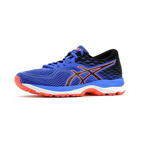 Asics Gel-Cumulus 19 Gs, Scarpe da Ginnastica Unisex – Bambini Blu (Blue Purple/Black/Flash Coral)