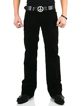 Hombre Barco Cut Pantalones de pana Star Negro