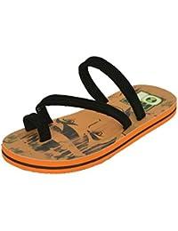 BEN 10 Boy's Orange & Black Flip-Flops (BEN15004MEDORANGE)