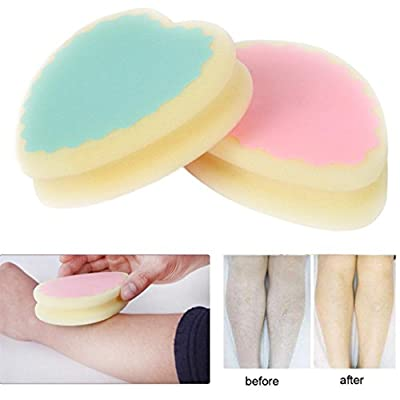 Hair Removal Sponge,Native99 Painless Painless Hair Removal Pad Depilation sponge