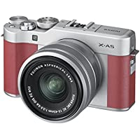 Fujifilm X-A5 Camera with Silver XC 15-45 Lens - Pink