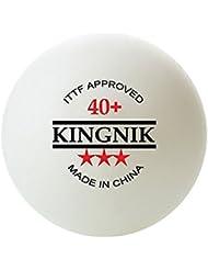 KINGNIK 3 STAR ITTF 40+ SEAMLESS TABLE TENNIS BALLS, 23 pieces