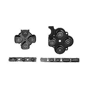 OSTENT Buttons Key Pad Set Reparatur Ersatz Kompatibel für Sony PSP 3000 Slim Konsole – Farbe Schwarz