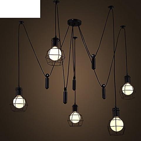 sala da pranzo semplice soggiorno Lampadario/Ascensore creativo lampadario retrò piccola