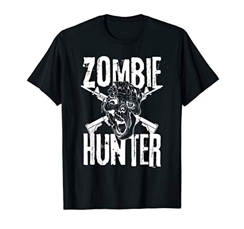Zombie Hunter Halloween-Kostüm Idee T-Shirt