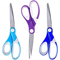 Office Scissors, ESEOE 3 Piece of Stainless Steel Scissors with Precision Cutting Blades (8 Inch) (A)