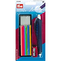 Prym Chalk Cartridge Set for Writing, Marking & Drawing on Many Materials Such as Textiles, Paper, Wood & Plastic, Plastic/Metal, Multi-Colour, 18.5 x 9.5 x 2 cm