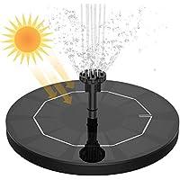 VITCOCO Solar Fuente Bomba 3.5W Fuente de Jardín Solar Flotado Solar Panel Incorporada Batería con 6 boquillas Ideal para Pequeño Estanque Baño de Aves Fish Tank Decoración del Jardín